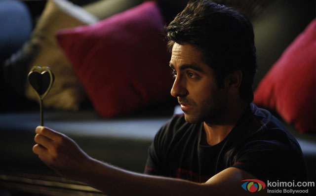 Ayushmann Khurrana in a still from movie 'Nautanki Saala'