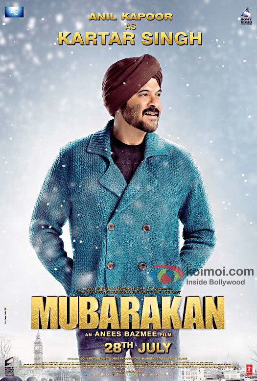 Anil Kapoor plays a sardar, check out his character poster from Mubarakan!