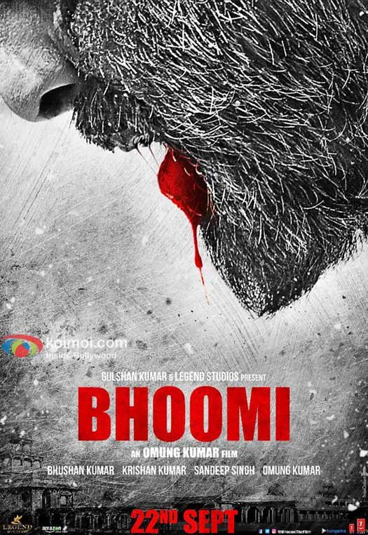 Sanjay Dutt's blood soaked look wows in 'Bhoomi' teaser poster
