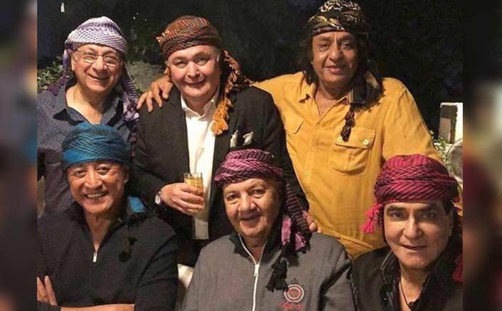 Rishi Kapoor reunited with his old friends Danny Denzongpa, Prem Chopra, Jeetendra, Paintal and Ranjeet