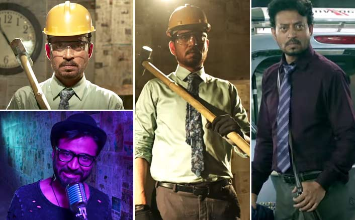 Irrfan unveils his furious side in the revenge anthem in 'Badla' from 'Blackमेल'