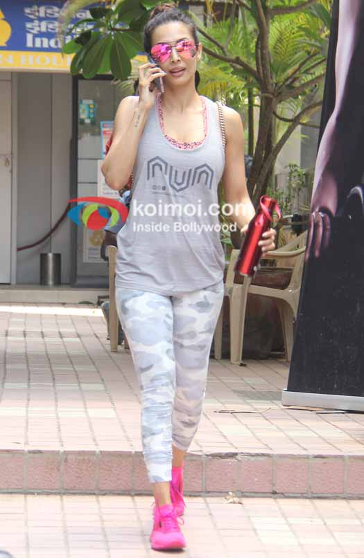 Malaika at gym