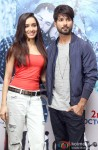 Shraddha Kapoor and Shahid Kapoor during the Haider's press meet in Bangalore Pic 2