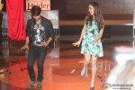 Shahid Kapoor and Shraddha Kapoor during the launch of Haider's Song Pic 2
