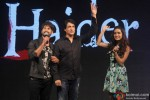 Shahid Kapoor, Shiamak Davar and Shraddha Kapoor during the launch of Haider's Song