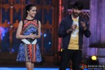 Shraddha Kapoor and Shahid Kapoor during the promotion of 'Haider' on the sets of 'Cine Stars Ki Khoj'
