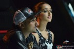 Honey Singh and Shraddha Kapoor during the promotion of 'Haider' on the sets of 'India's Raw Star' Pic 1